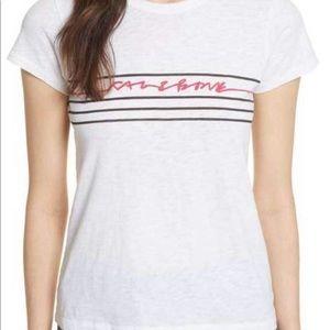 rag & bone graphic script t shirt